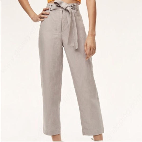 Aritzia Pants - Aritzia Wilfred Gray Linen Jallade Pants Size 8